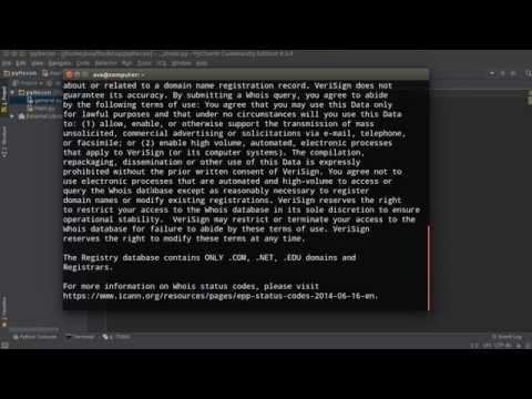 Python Website Scanner Tutorial - 2 - Top Level Domain Name