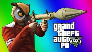 GTA 5 PC Online Funny Moments - Action Replay, Slow Motion, Highway Stunt!(NEW Vanoss Shirts & Merch HERE: http://bit.ly/1SnwqxY Friends in the vid: H2O Delirious - http://bit.ly/191aKBE Wildcat - http://bit.ly/11oQ2GF Moo Snuckel ..., 2015-04-17T01:59:48.000Z)