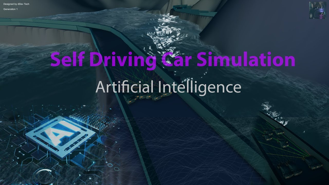 Self Driving Car Simulation Unity 3D using Genetic Algorithms and Neural  Networks - Unity 3D & C#