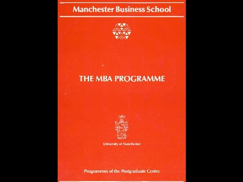 The Manchester Business School Years 1990-1992 (1-6)
