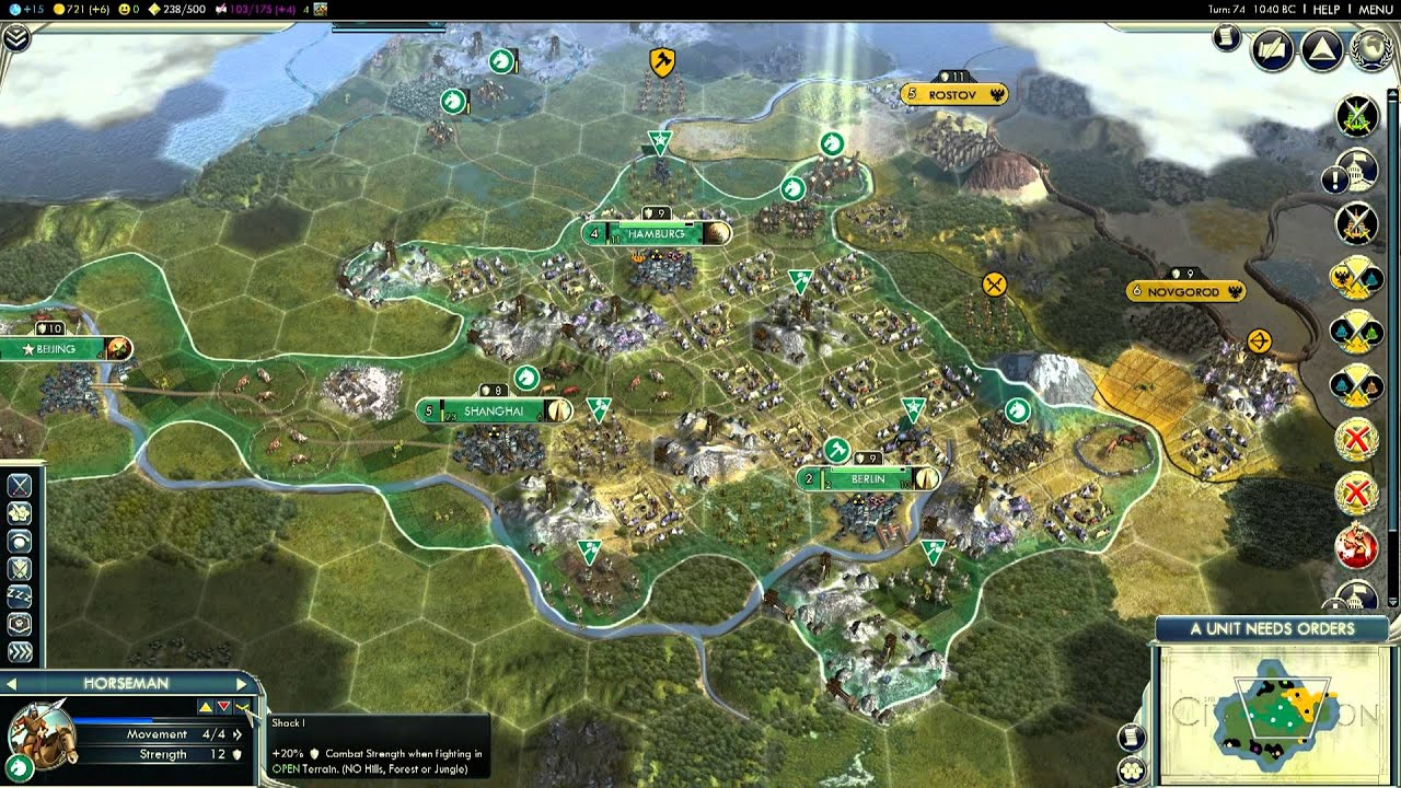 civilization 5 deity military victory how to full game all rh youtube com World Civilization Sid Meier's Civilization 6