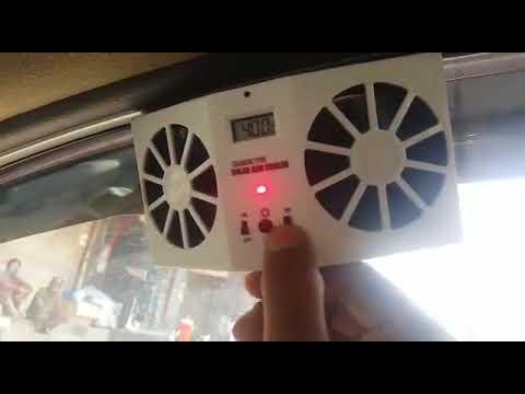 Double Solar Powered Heat Ventilation Exhaust Fan Large | Summers Cooler | Car Fan