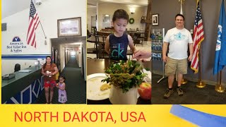 NORTH DAKOTA USA 2ND DAY LONG DRIVE   QUICK ROOM TOUR  FAMILY ROAD TRIP TO AMERICA