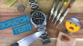 """Citizen Promaster Tough SCRATCH TEST! How Tough is Citizen's """"Super Titanium"""" Coating?"""