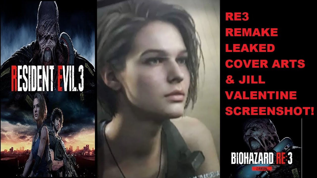 Resident Evil 3 Remake Leaked Cover Arts And Jill Valentine