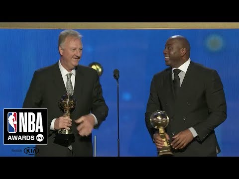 Magic Johnson & Larry Bird Accept Lifetime Achievement Award | 2019 NBA Awards