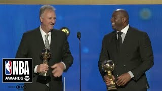 Magic Johnson & Larry Bird Accept Lifetime Achievement Award | 2019 NBA Awards