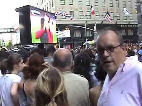 Live Outdoor Screening 2016 Euro Final France vs Portugal  - La Fête Nationale Française - NYC 2016