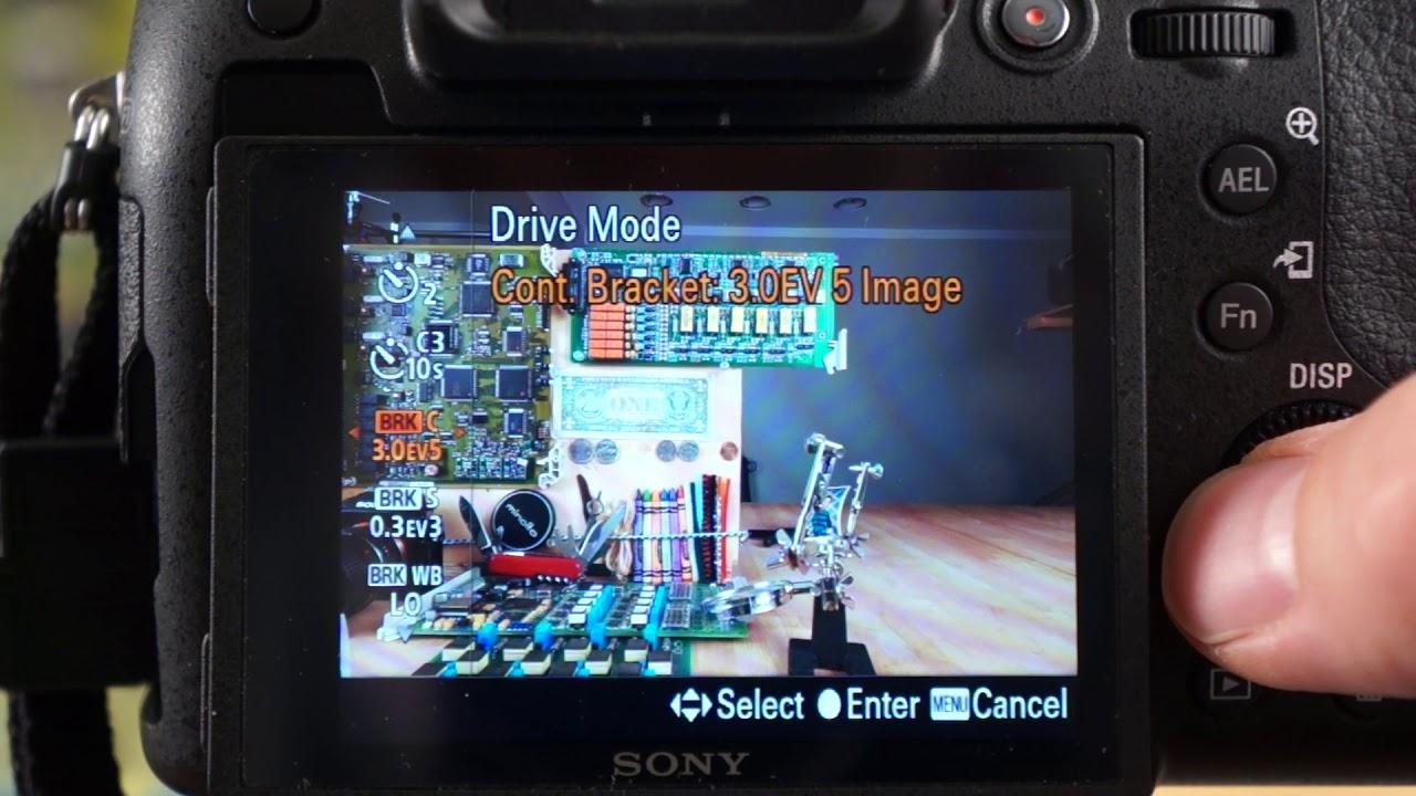 Sony RX10 IV - Drive Modes, Self-timer, & Bracket Settings