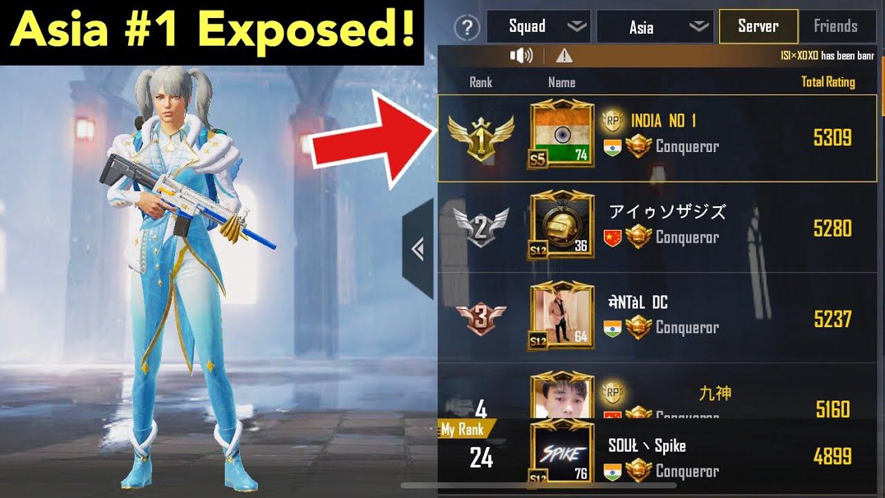 Asia No 1 Player The Truth | PUBG Mobile | Conqueror
