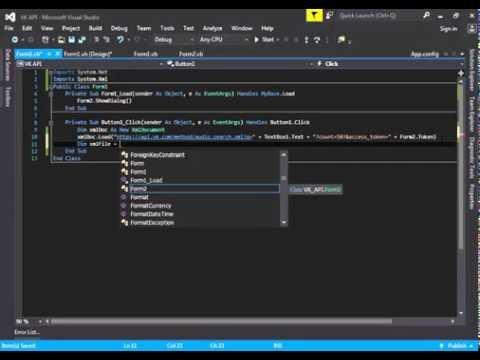 [VB.NET] How To Use Vk.com API : Search (API)