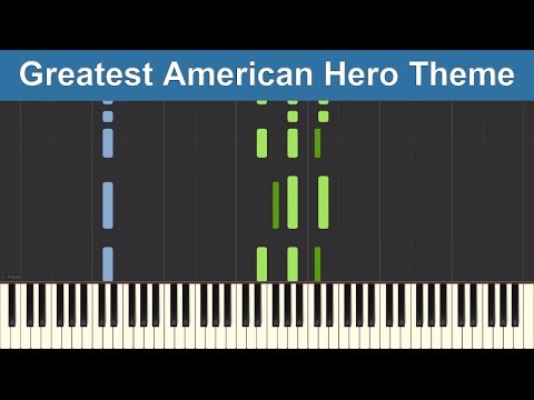 Believe It Or Not - Greatest American Hero Theme - Synthesia Piano Tutorial