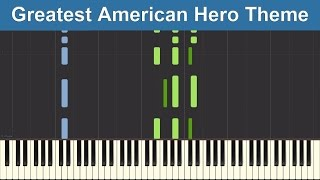 believe it or not greatest american hero theme synthesia piano tutorial