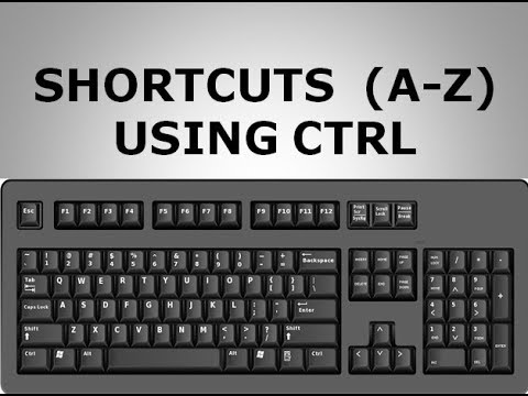 KEYBOARD SHORTCUTS (A TO Z )  USING (CTRL) IN HINDI KEYBOARD SERIES (PART- 2)