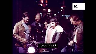 Early 1970s Greenwich Village at Night, New York, Bitter End, HD from 35mm