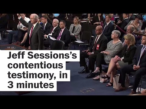 Download Youtube: Jeff Sessions's heated testimony, in 3 minutes