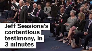 Jeff Sessions's heated testimony, in 3 minutes Free HD Video