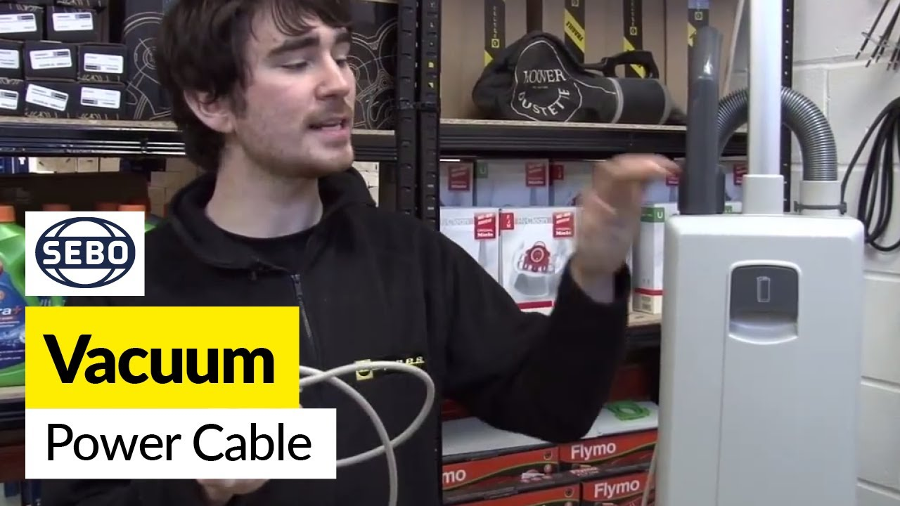 how to replace the power cable on a sebo x1 vacuum cleaner [ 1280 x 720 Pixel ]