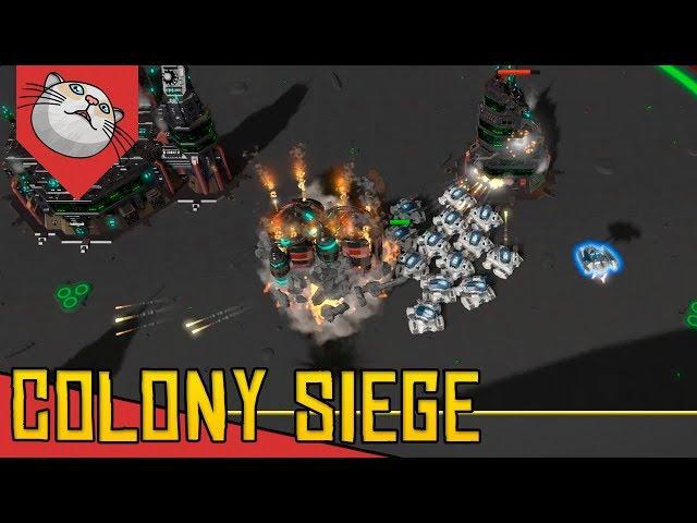 Dessa vez Eu ATAQUEI A BASE INIMIGA - Colony Siege [Conhecendo o Jogo Gameplay Português PT-BR]