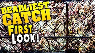 FIRST LOOK : Loading Up the Biggest King Crab Pots in Alaska! - Deadliest Catch the Game