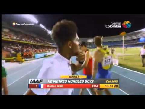 Men's 110m Hurdles Final IAAF World Youth Champs Cali 2015