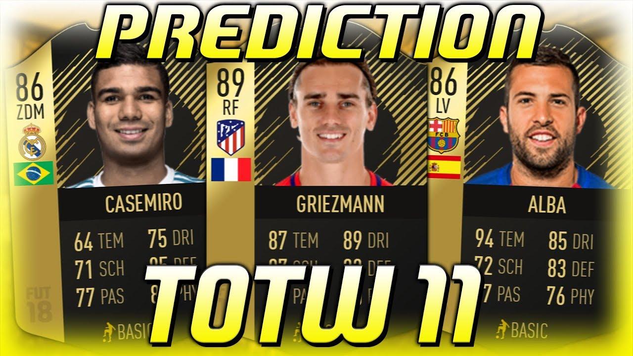 Fifa 18 Totw 8 Predictions