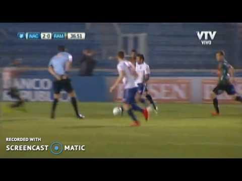 Gol HD Nacional... Nacional 2-0 Rampla juniors Uruguay Primera Division 08/10/2016
