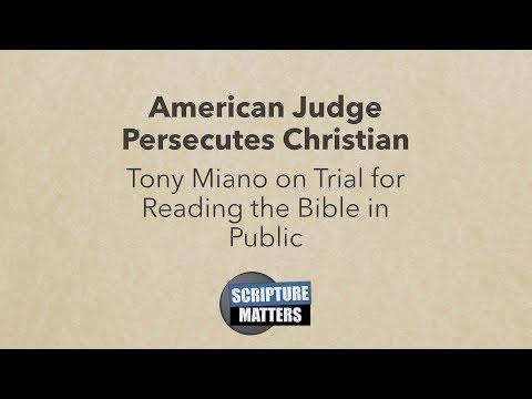 American Judge Persecutes Christian | Scripture Matters