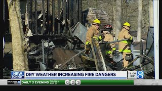 Dry conditions prompt fire danger warnings