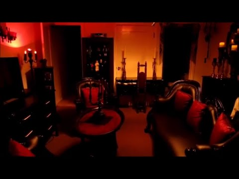 My Gothic Studio Apartment tour. Gothic Decor Furniture. How I decorate my tiny space Goth.