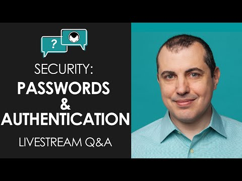 Crypto Security: Passwords and Authentication - Livestream aantonop