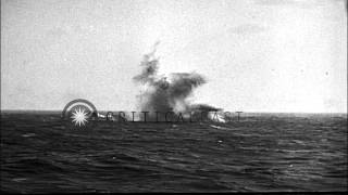 Japanese Kamikaze Planes Are Shot Down During The Battle Of Okinawa. Hd Stock Footage