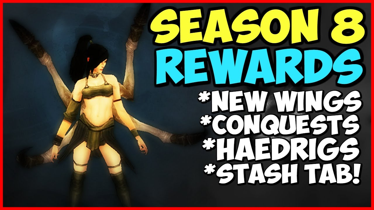 Diablo 3 Season 8 Rewards - New Wings Andariel, Stash Tab ...