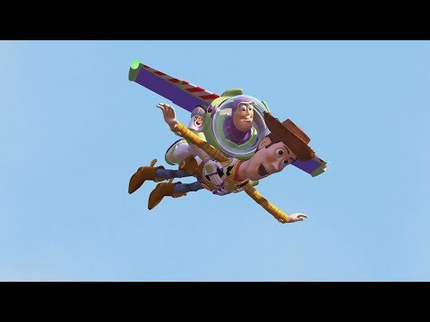 Toy Story (1995)  -  Woody & Buzz Use Sids Rocket To Fly