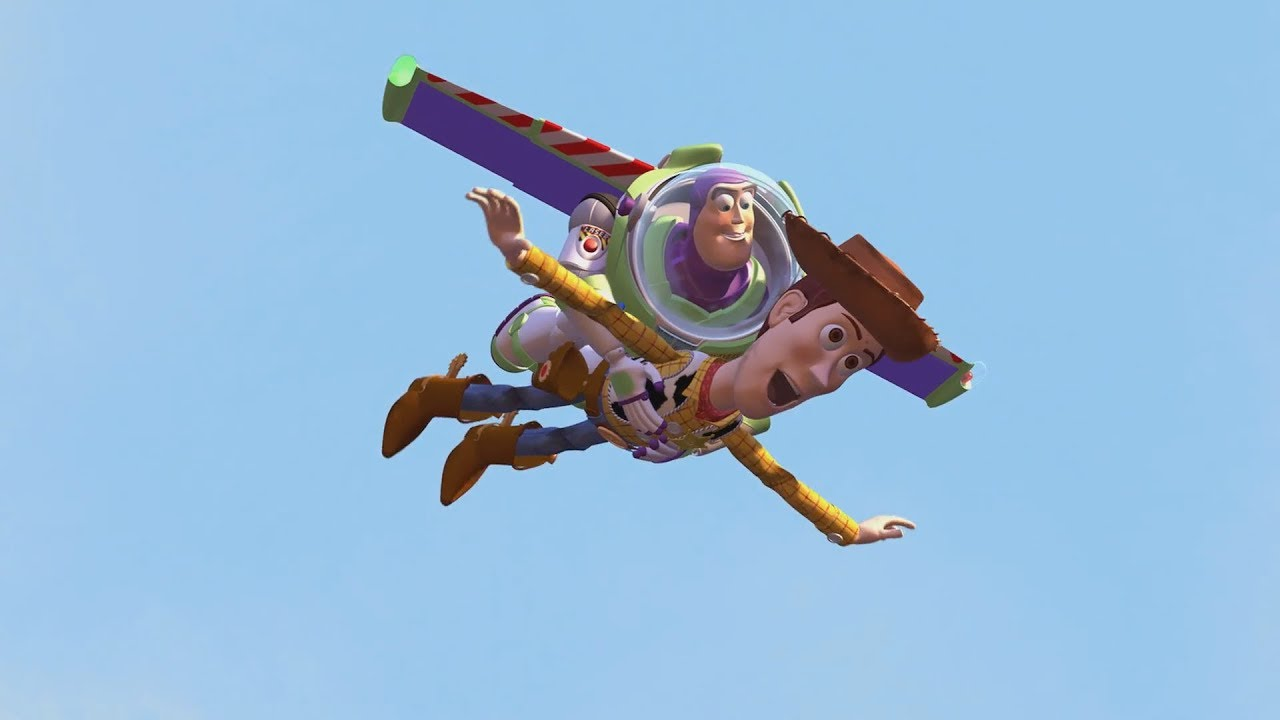 Download Toy Story (1995)  -  Woody & Buzz Use Sids Rocket To Fly