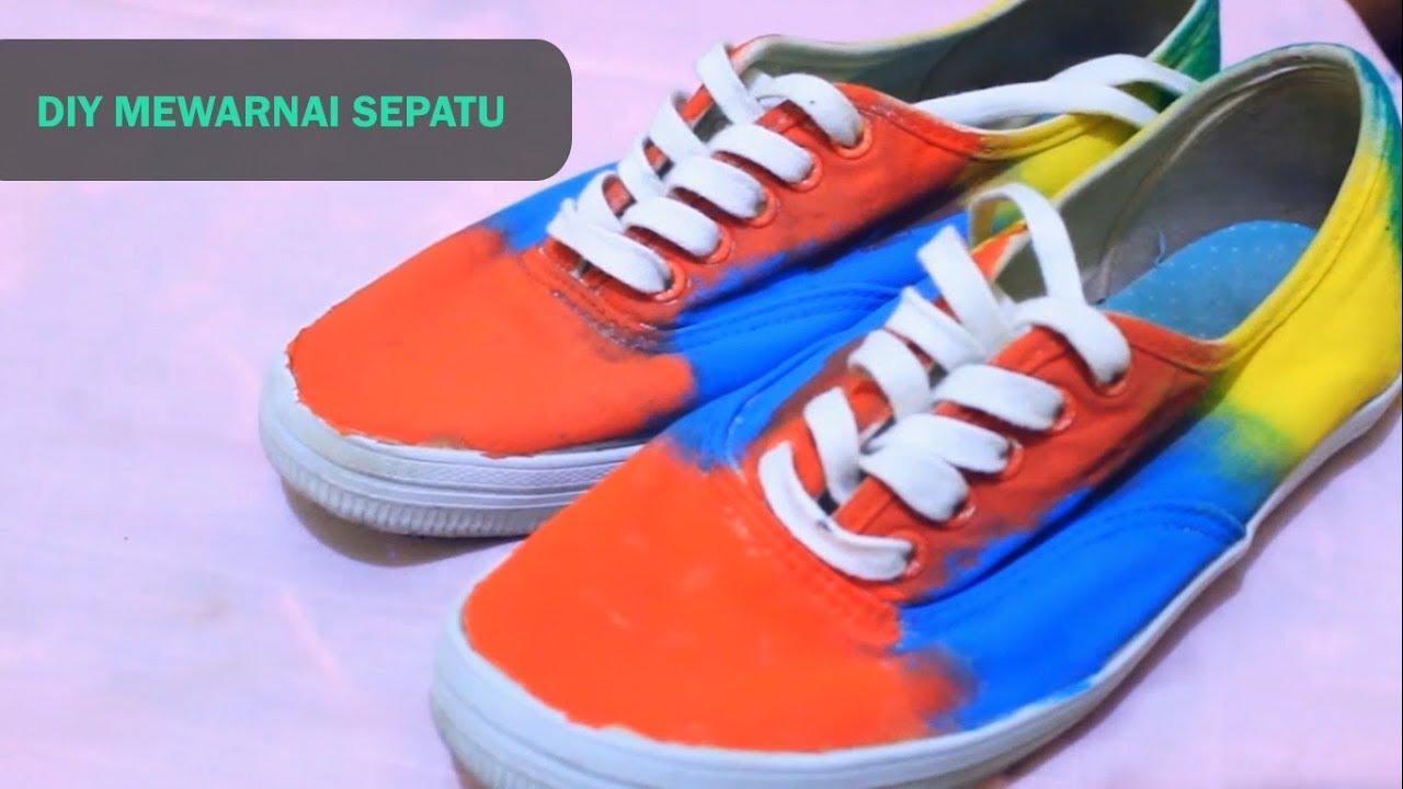 J Craft Diy Mewarnai Sepatu Youtube