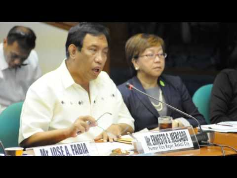 former vice mayor ernesto mercado for the second time to testify in senate hearing,,