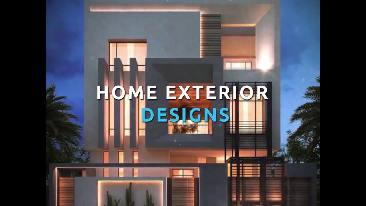 Homebliss: Modern Exterior Designs - YouTube