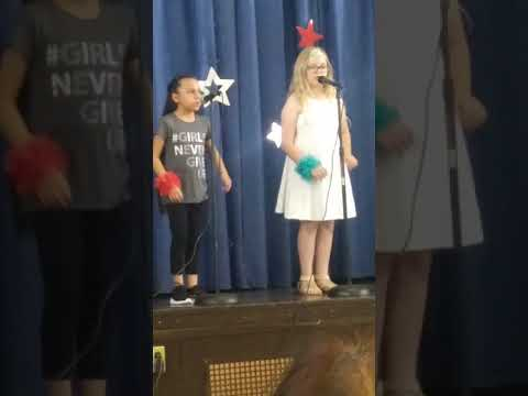 Brianna singing the other side at Branch Brook School