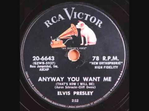 ELVIS PRESLEY Anyway You Want Me 1956 - YouTube