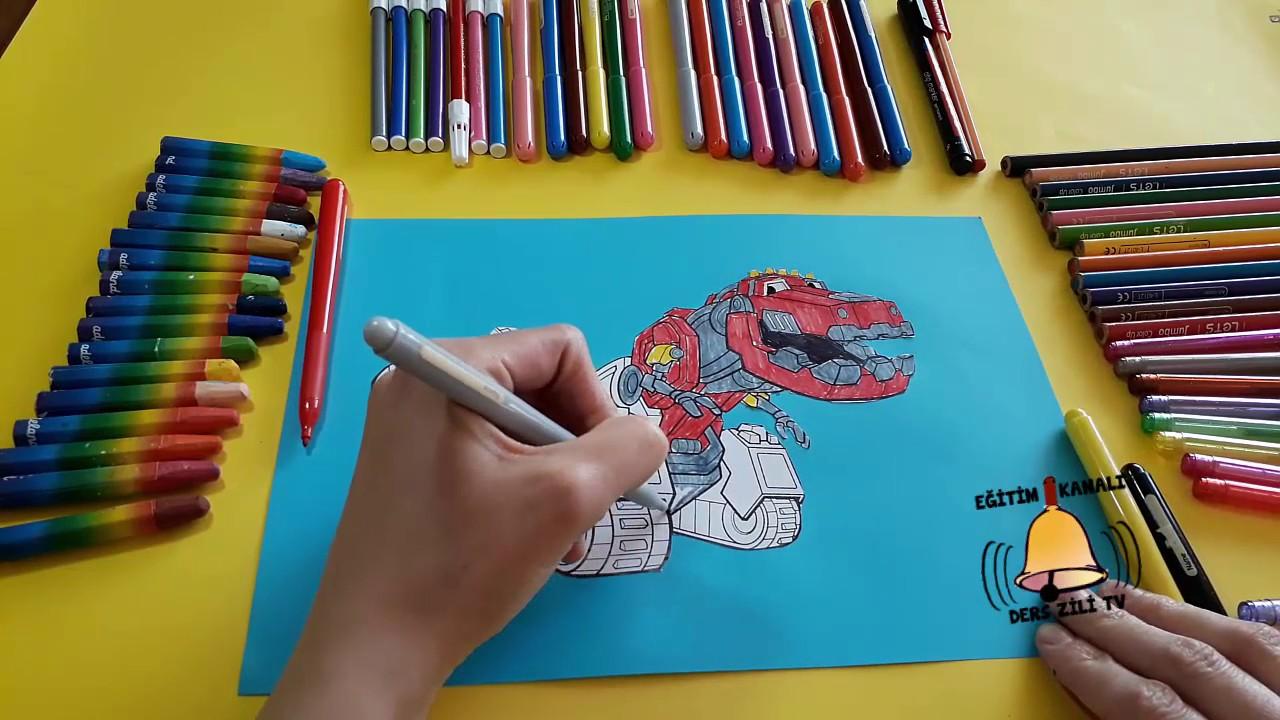 Dinozor Makineler Ty Rex Boyama Dinotrux Ty Rex Coloring Youtube