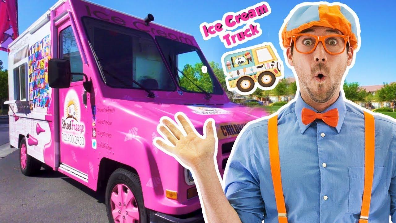 Blippi ice cream truck | Blippi learning for Children | Blippi Videos | Moonbug for Kids