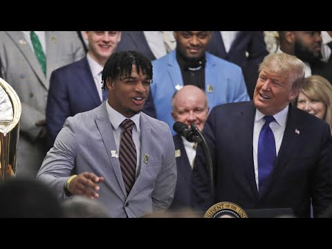 LSU visits White House, President Trump after winning title: full video