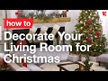 How do I decorate my living room for Christmas?