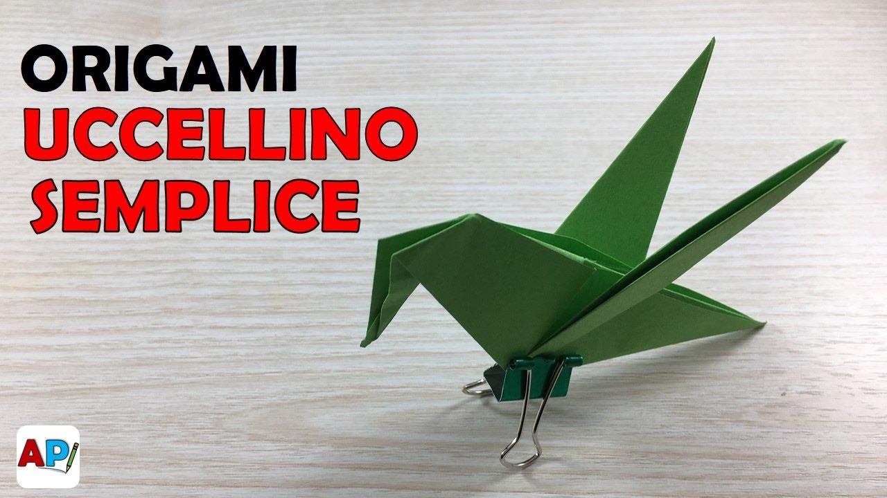 tutorial origami uccellino
