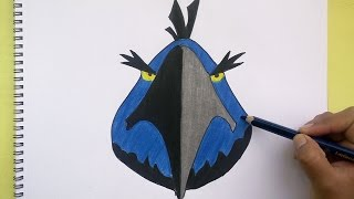 Dibujando y pintando a Espace Eagle (Angry Birds)- Drawing and painting to Espace Eagle