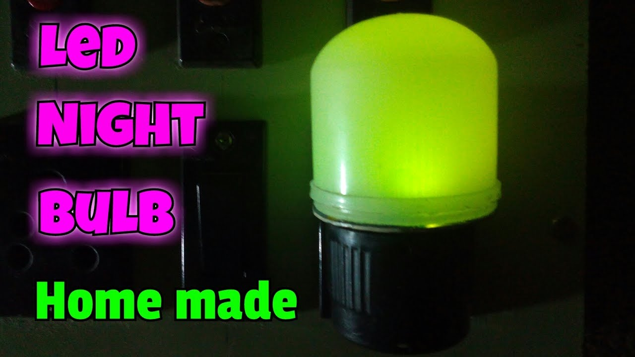How To Make LED Night Lamp..Make LED Night Light Lamp At Home ...
