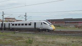 Hitachi Class 801 passes Darlington (9/5/18)