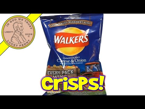 Walkers Unmistakably Cheese & Onion Crisps, UK Snack Sampler