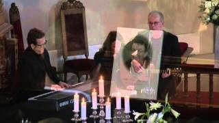 Odd Iversen begravelse.  Et bilde tå